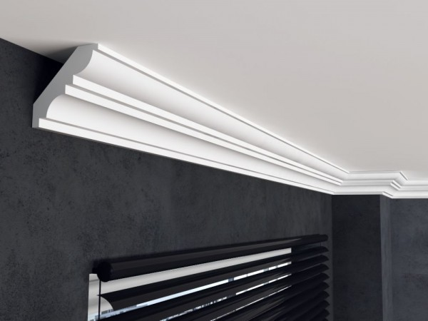 Deckenleiste FE12 - 13 cm - Zierleisten Eckleiste Stuckleiste Profilleiste Stuckdekor Decken